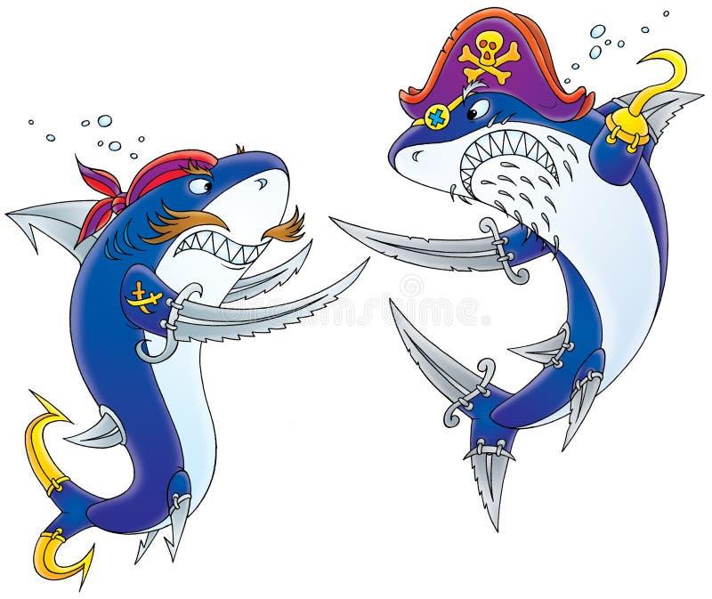 Requins - pirates illustration libre de droits