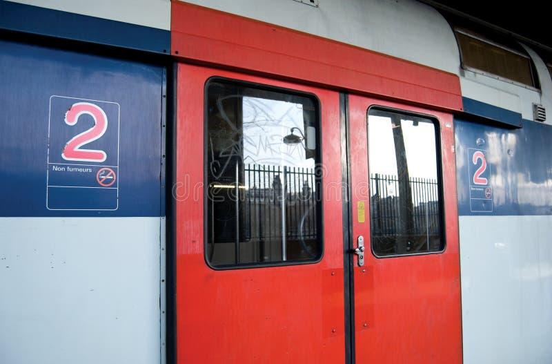 RER train, Paris stock images