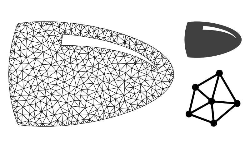 Res muerta Mesh Bullet del vector e icono plano libre illustration