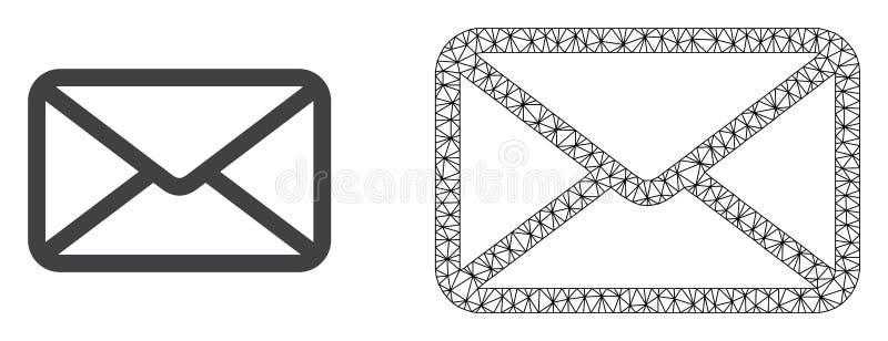 Res muerta Mesh Letter del vector e icono plano libre illustration