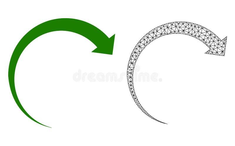 Res muerta Mesh Rotate Forward del vector e icono plano ilustración del vector