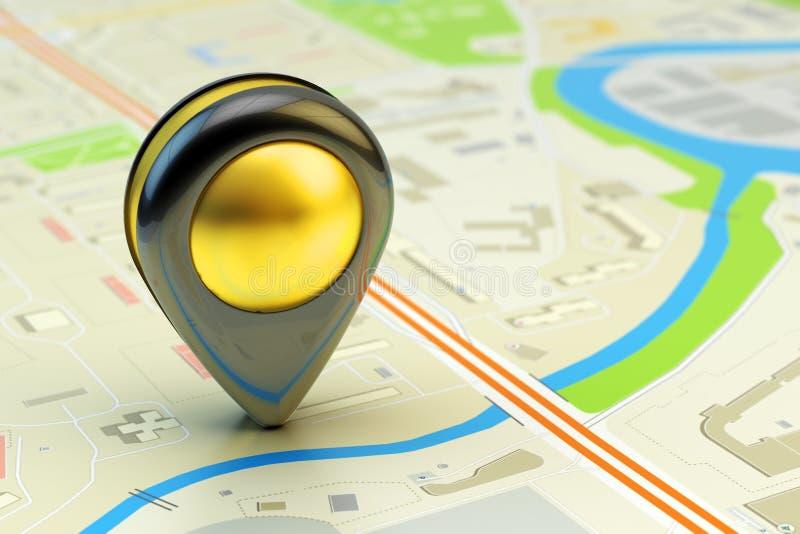 Resa destinationen, gps-läge och positioneringbegreppet vektor illustrationer