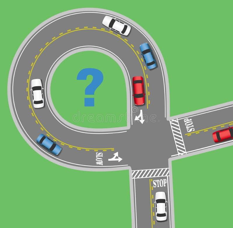 Resa gatan för informationsbilvägen royaltyfri illustrationer