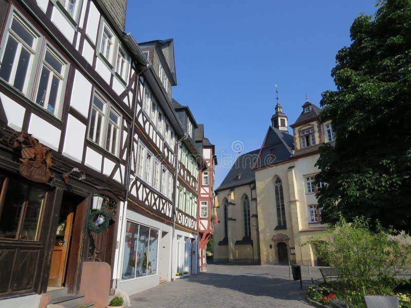 Resa i Tyskland Staden av Wetzlar arkivbilder