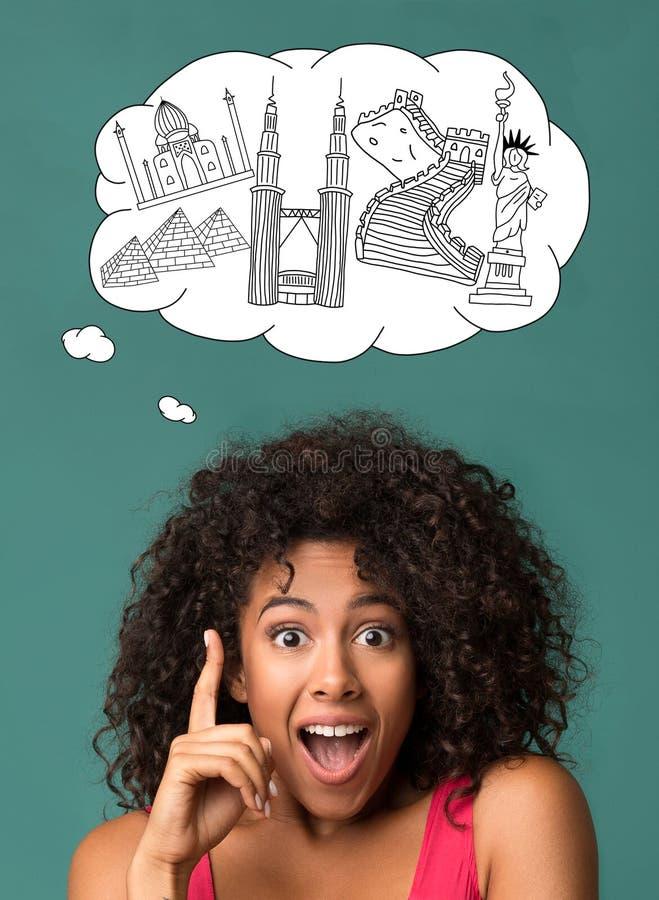 Resa idébegrepp stock illustrationer
