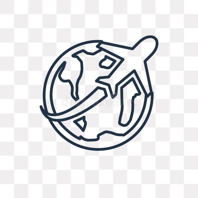 Resa vektorsymbolen som isoleras på genomskinlig bakgrund, linea royaltyfri illustrationer