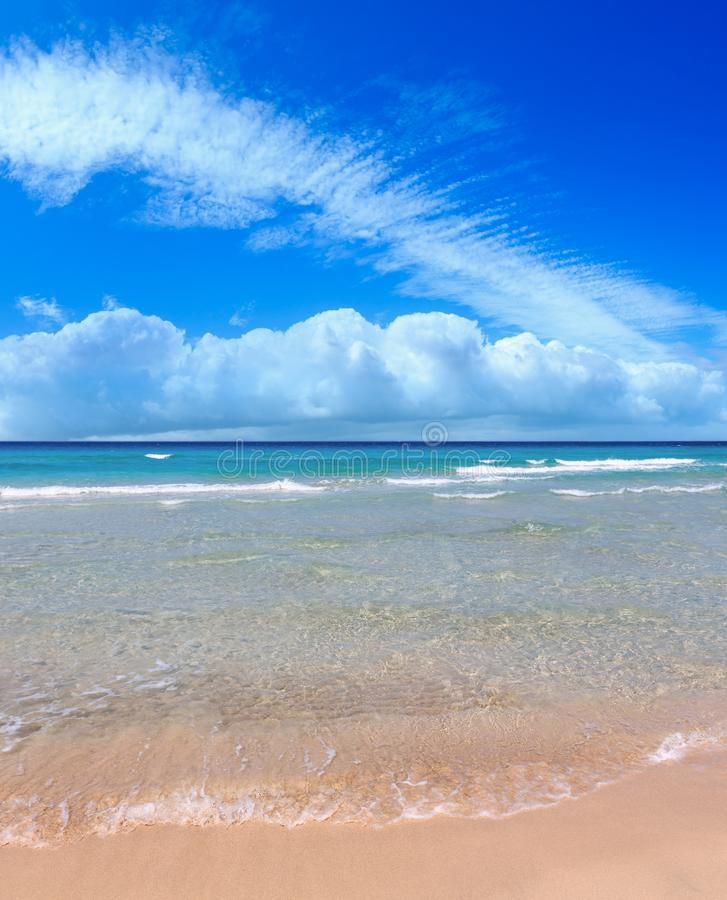 Resaca del mar en la playa fotos de archivo