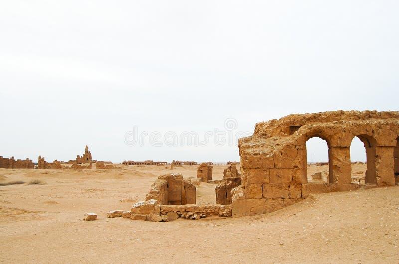 Resafa fördärvar - Syrien royaltyfri foto