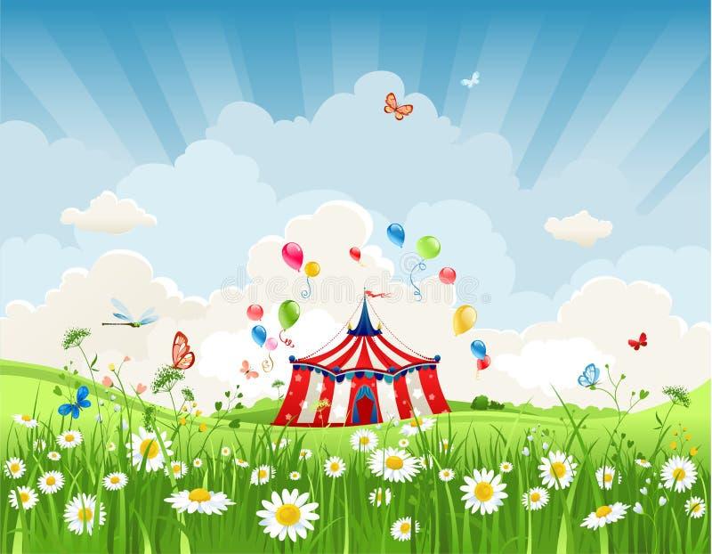Resande cirkus royaltyfri illustrationer