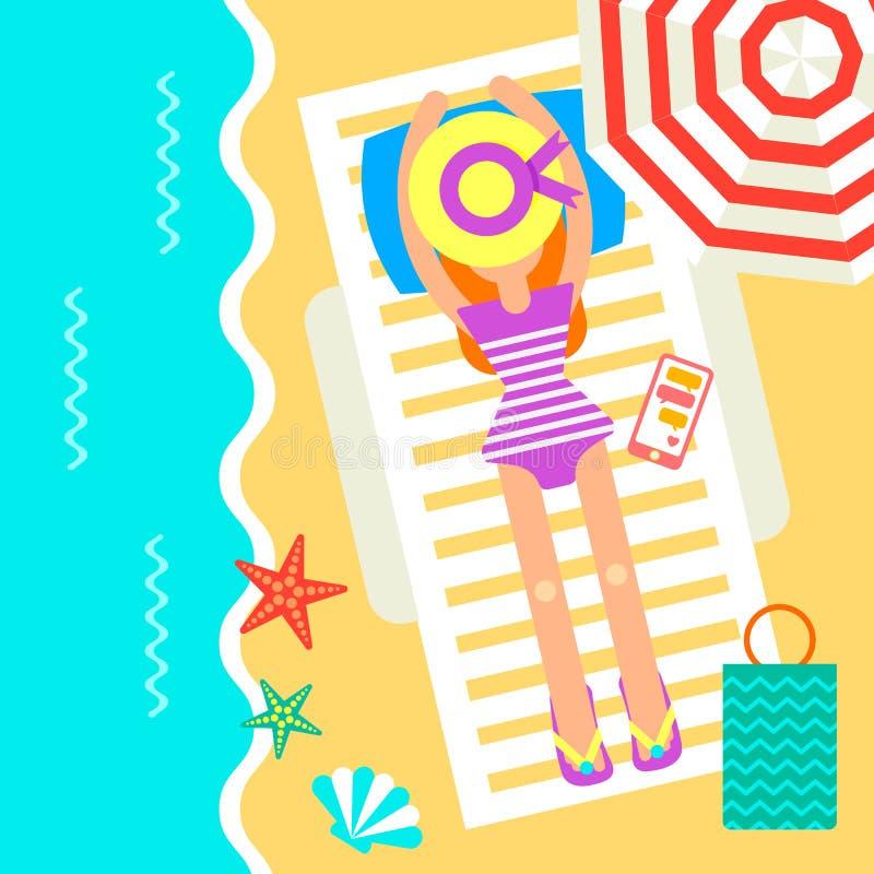 Resande kort för sommartid vektor illustrationer