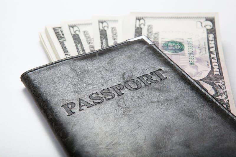Resande utland med pengar arkivfoton