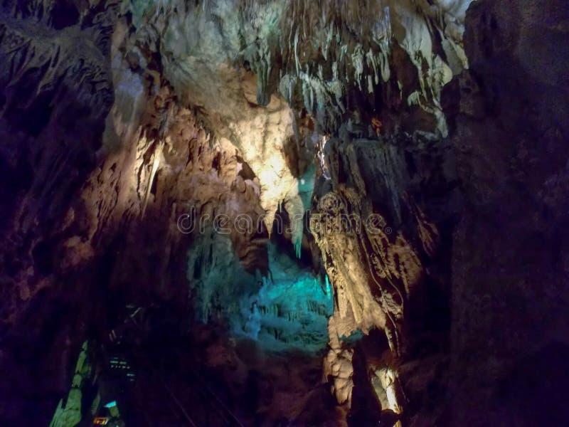 Resava grotta royaltyfri fotografi