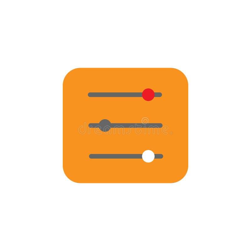 Resbaladores, icono de los niveles Elemento del icono de Desing de la web para los apps móviles del concepto y de la web Los resb stock de ilustración