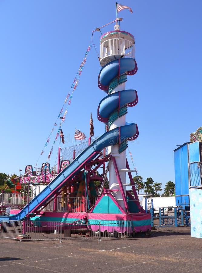 Resbale en el carnaval fotografía de archivo