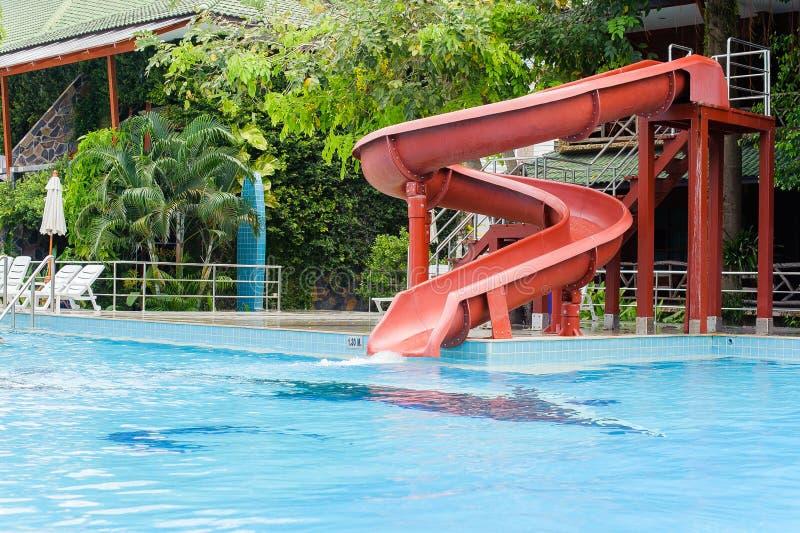 Resbale en la piscina foto de archivo libre de regalías