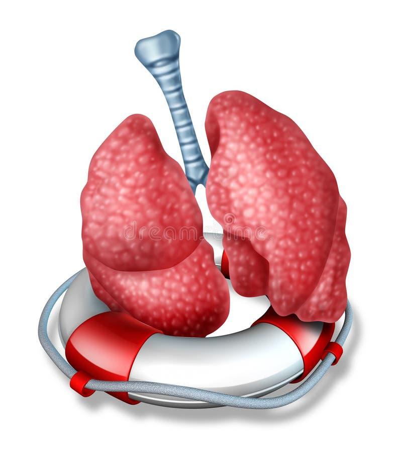 Rescate de los pulmones ilustración del vector