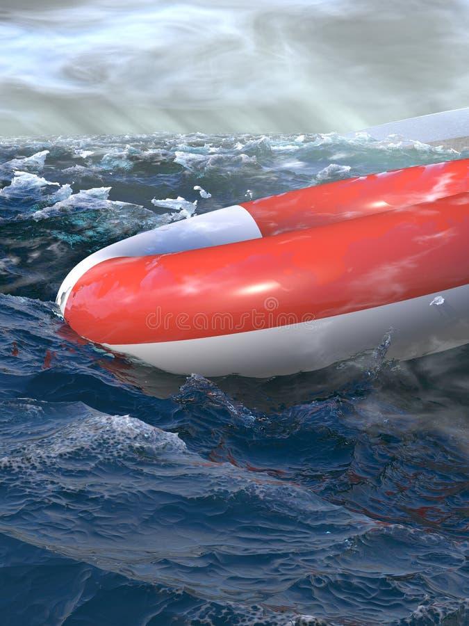 Rescate del barco ilustración del vector
