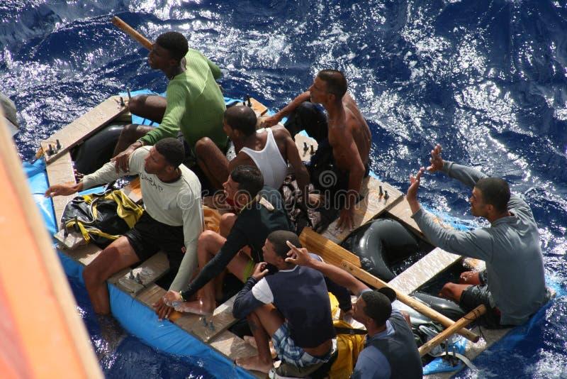 Rescate en el mar foto de archivo libre de regalías