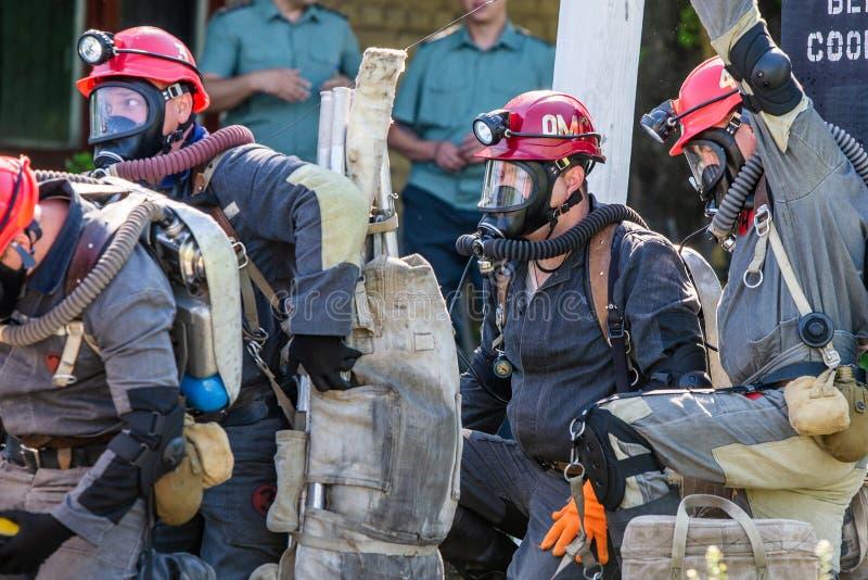 Rescate minero foto de archivo