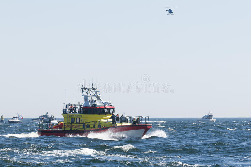 Rescue Bjorn Christer lifeboat at sea stock photo