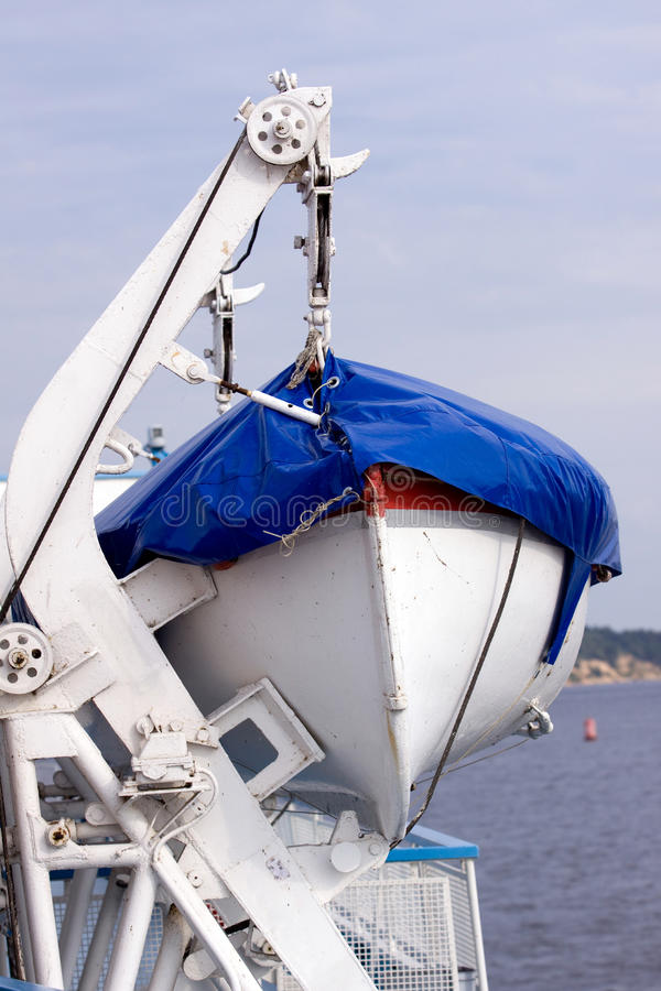 Rescue boat. Ready to be usede just in case royalty free stock images