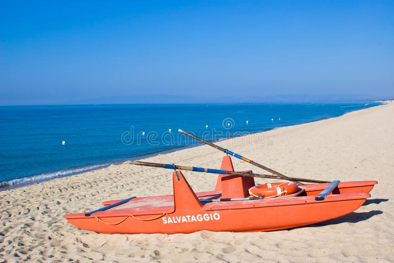 Download Rescue boat stock image. Image of color, serenity, umbrellas - 26134113