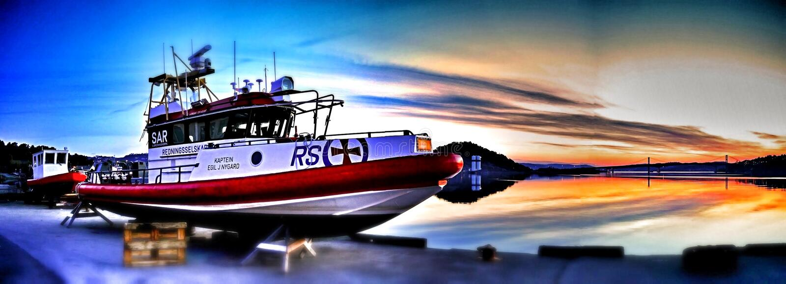 Rescue boat royalty free stock image