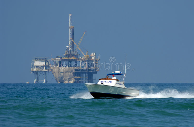 Download Rescue Boat on Patrol stock image. Image of beach, rescue - 2734695