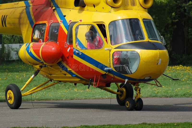 Rescue chopper royalty free stock photo