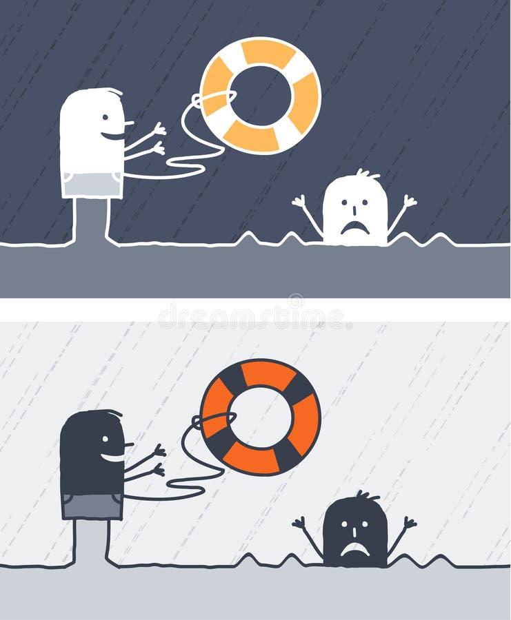 Download Rescue colored cartoon stock vector. Illustration of black - 13513568