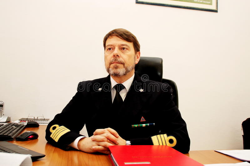 rescue command Sinking cruise Costa Concordia stock photography