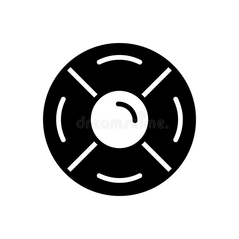 Black solid icon for Rescue disk, backup and diskette vector illustration