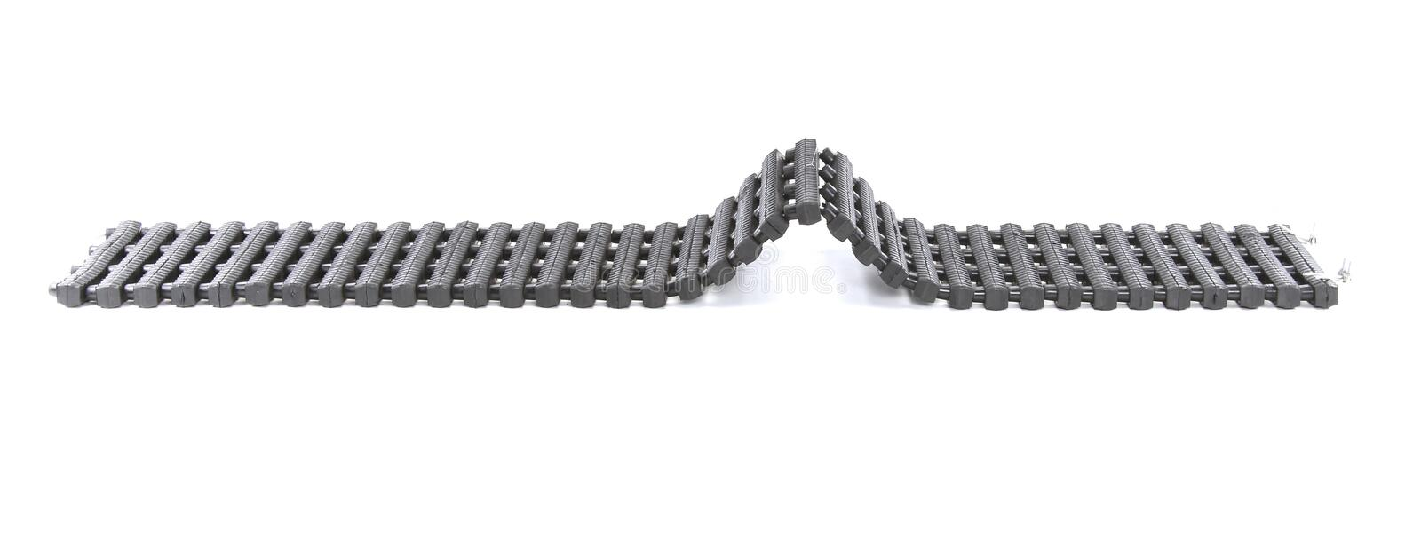 Rescue Escaper Traction Tracks Mats isolated on white backgroun. Car Recovery ,Car Security Snow, Mud, Sand, Rescue Escaper Traction Tracks Mats royalty free stock images
