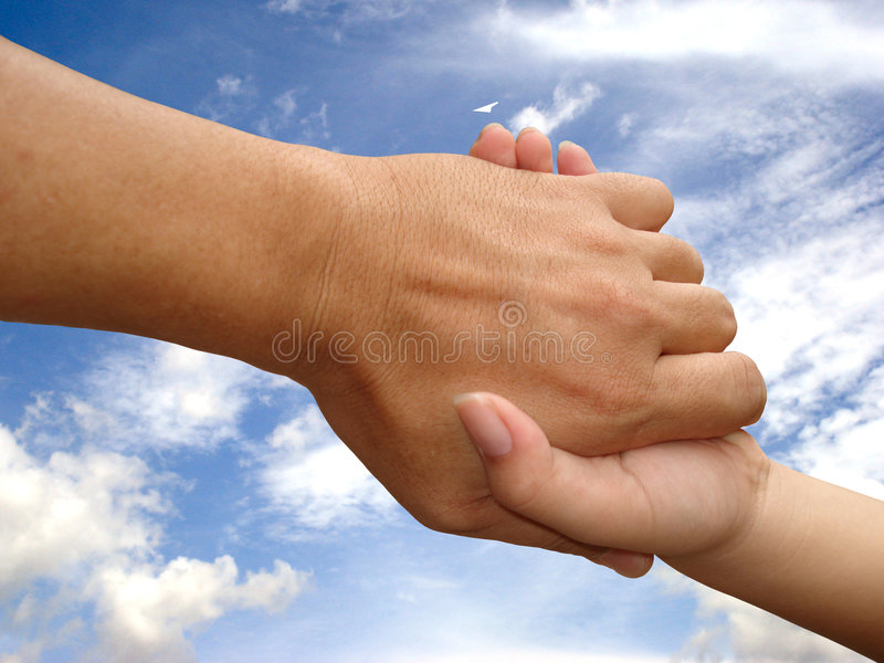 Rescue hand,Helping Hand stock image