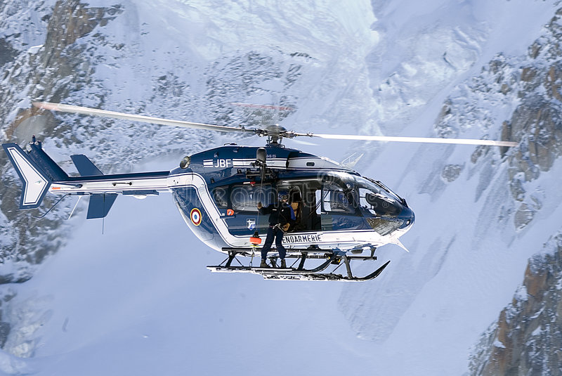 Download Rescue Helicopter stock image. Image of chopper, snow, switzerland - 180733