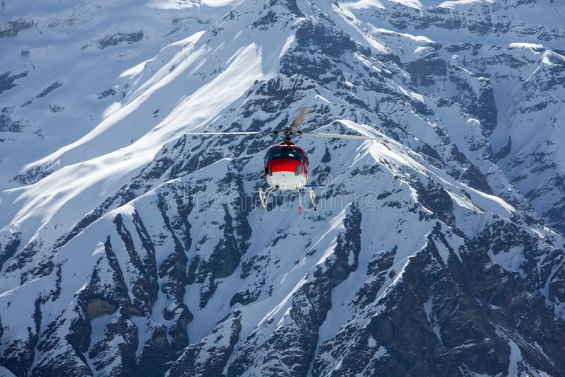 Rescue helicopter in Annapurna basecamp, Nepal.  royalty free stock image