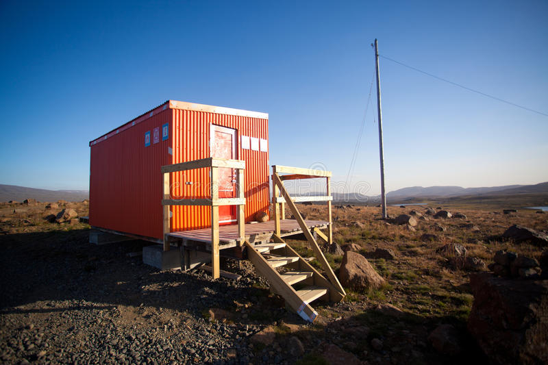 Rescue hut in a interior of Iceland