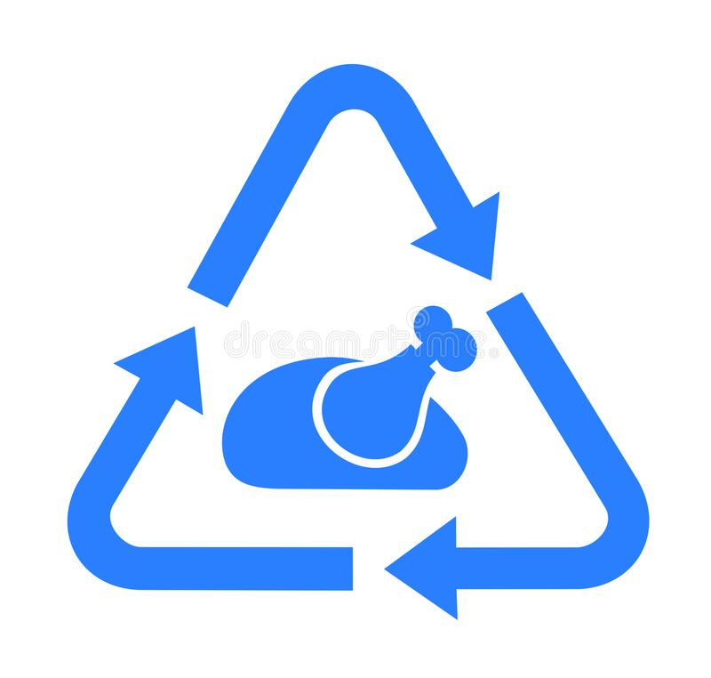 Recycling and recovery of food. Rescue and Save of food waste - recycling and recovery of rubbish meal and dish. Vector illustration royalty free illustration