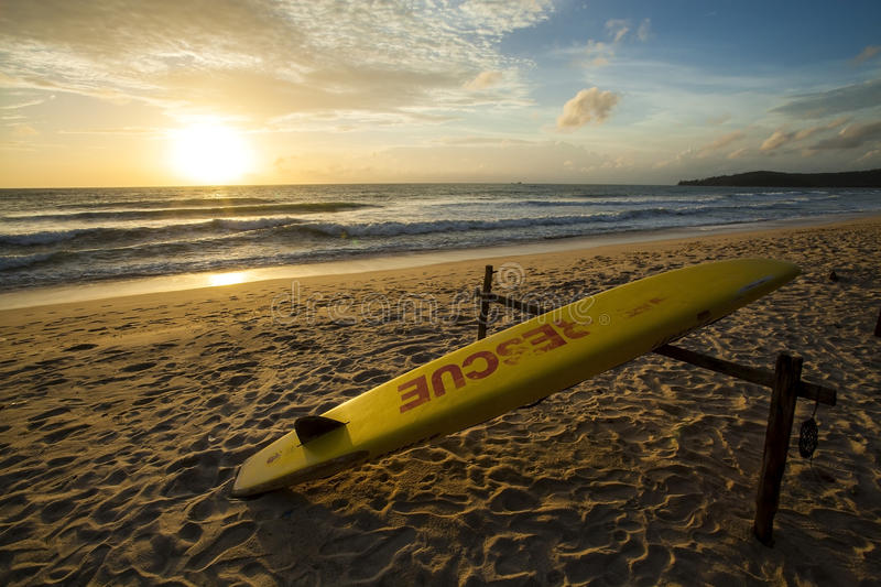Rescue surfboard royalty free stock photography