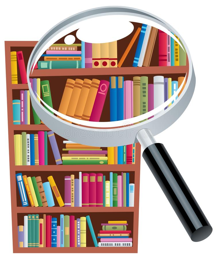 Download Research 2 stock vector. Image of element, clipart, bookcase - 24782224