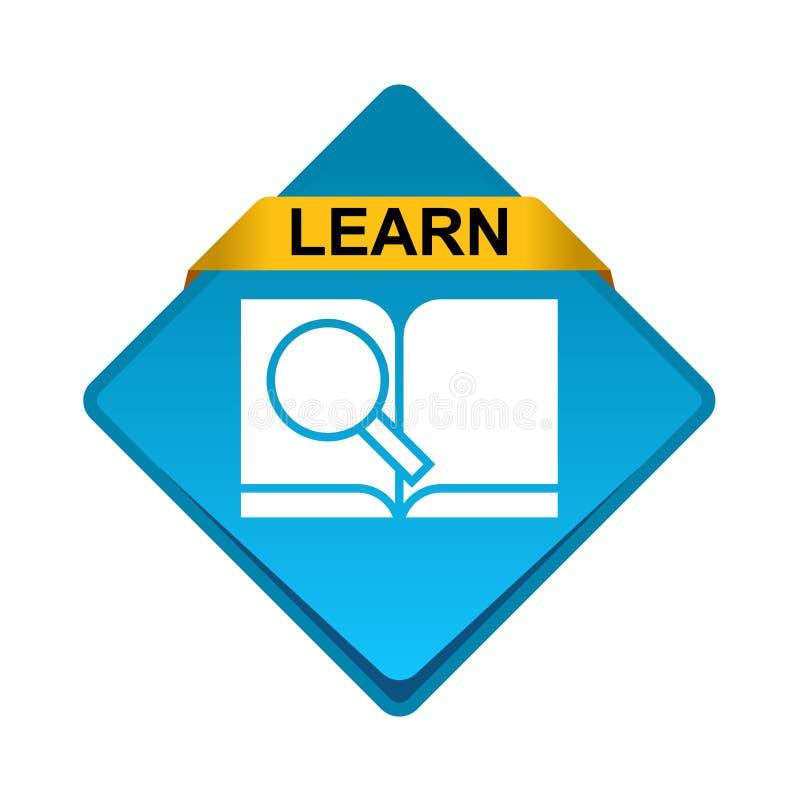 Research book icon button vector illustration