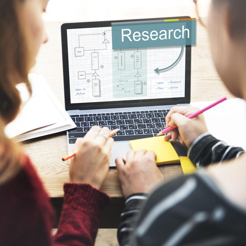 Research Business Analysis Strategy Concept stock photography
