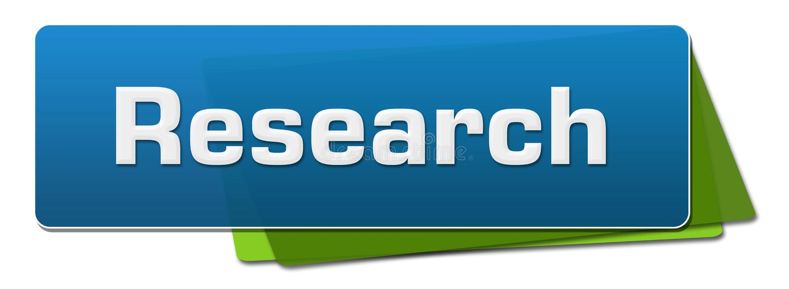 Research Green Blue Rounded Squares vector illustration