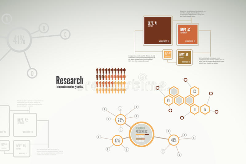 Research Infographics For Business Royalty Free Stock Photos
