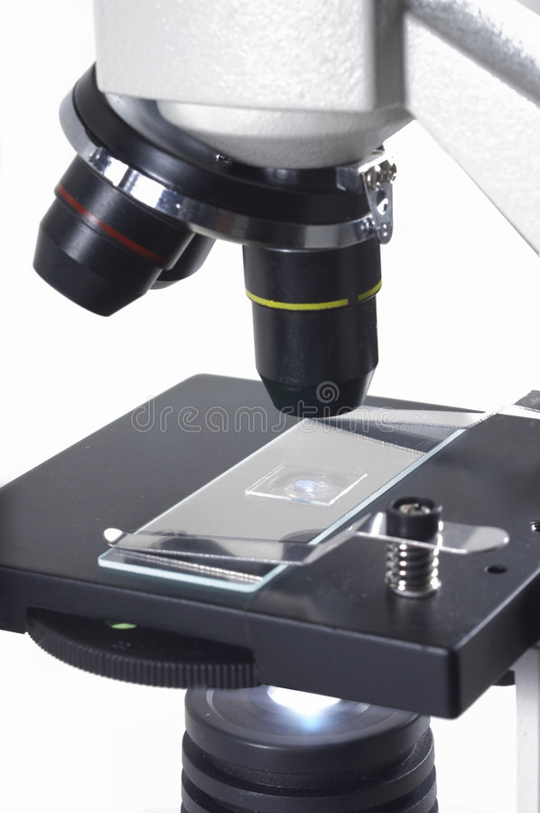 Research microscope royalty free stock images