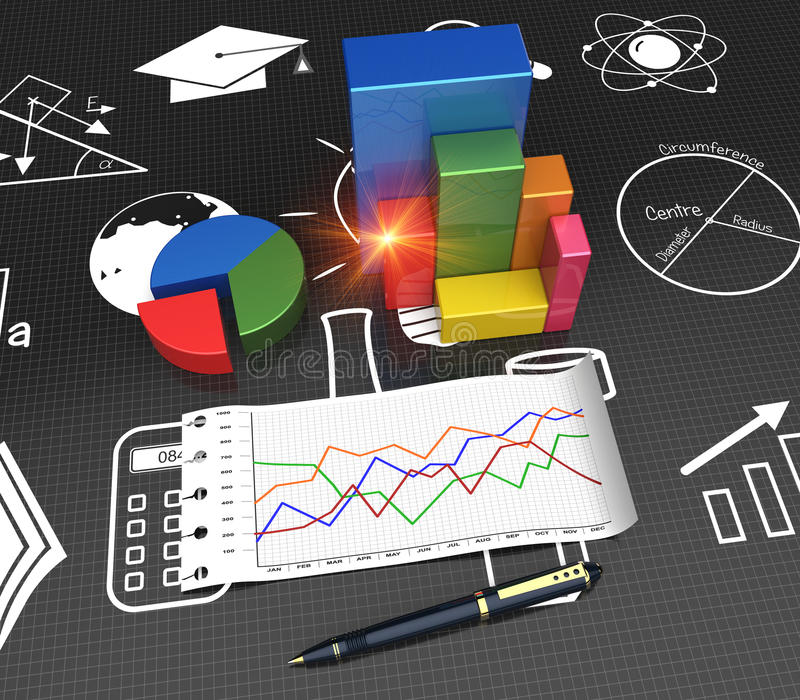Research process stock illustration