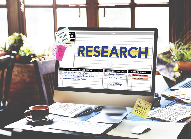 Research Report Exploration Discovery Results Concept.  stock images