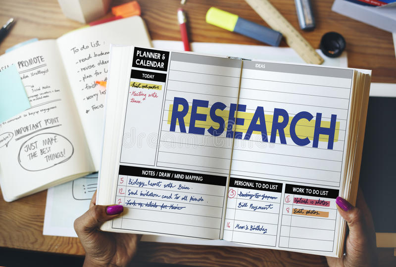 Research Report Exploration Discovery Results Concept royalty free stock image