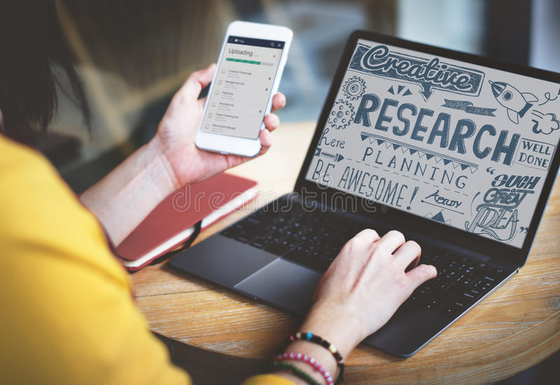 Research Results Report Facts Exploration Discovery Concept.  royalty free stock image