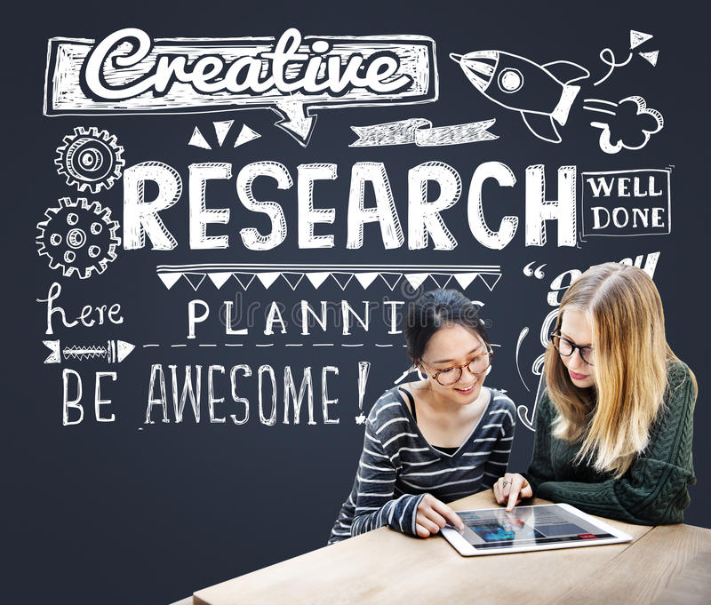 Research Results Report Facts Exploration Discovery Concept stock photo